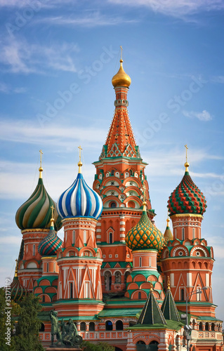 Moscow, Russia, Saint Basil's cathedral Poster