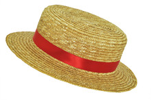 Straw Hat With Red Band