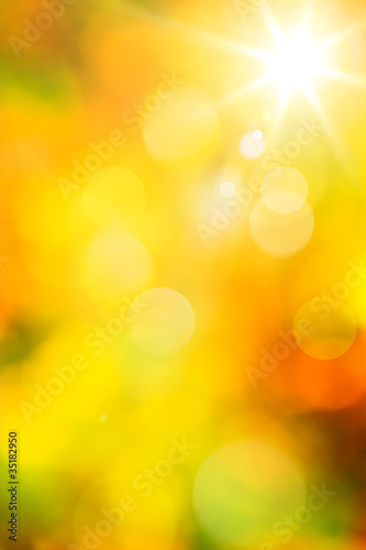Poster Jaune Art abstract autumn background