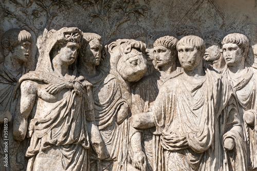Benevento (Campania, Italy): Roman arch known as Arco di Traiano Canvas Print