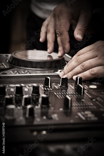 DJ play music Fototapet