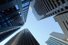 Skyward View Of Skyscrapers In...