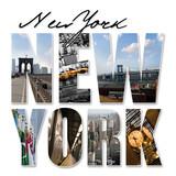 NYC New York City Graphic Montage