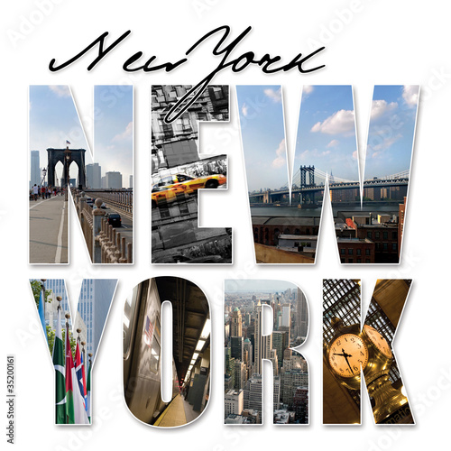 Plakat w ramie Napis New York