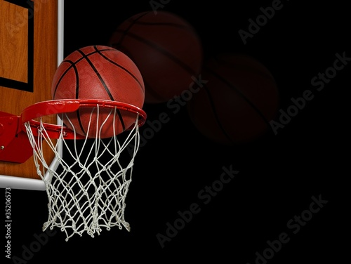 Photo  Basketball score shoot