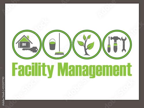Fotografie, Obraz  Facility Management Logo - Hausmeisterservice - Logo