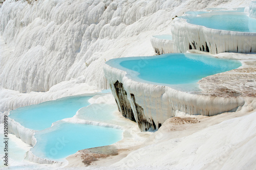 In de dag Turkije Pamukkale basins