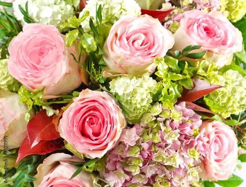 Aluminium Prints Dahlia pink roses. beautiful flowers bouquet