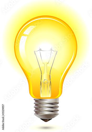 Photo  yellow light bulb