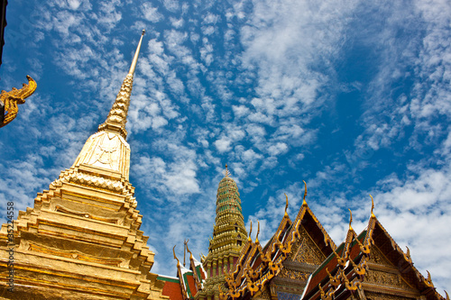 Spoed Foto op Canvas Bedehuis The temple in the Grand palace area. Bangkok, Thailand