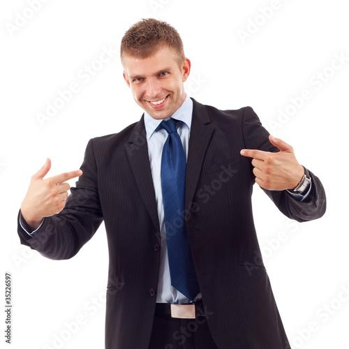 Fotografie, Obraz  business man points to himself