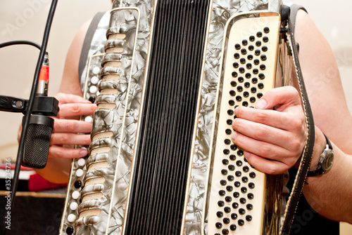 Fotografia, Obraz  musician playing accordion