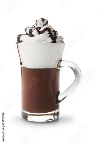 Spoed Foto op Canvas Chocolade Cup of hot chocolate