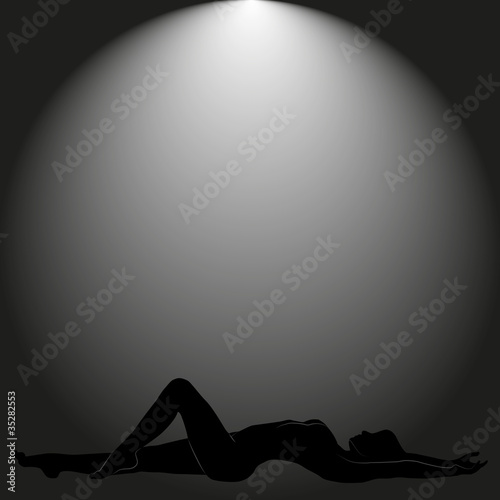 Obraz black background with women - fototapety do salonu