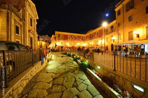 Photo voie romaine à arpino, dans le latinium en italie