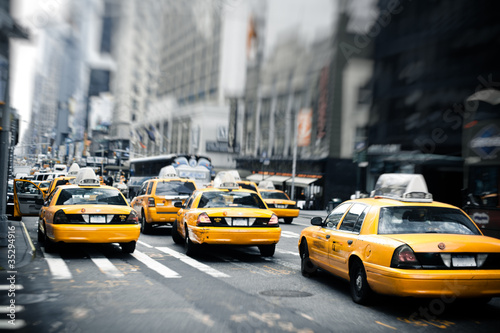 Photo sur Toile New York TAXI New York taxis