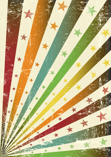 retro multicolor grunge flag