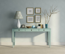 Blue Turqoise Console Table In...