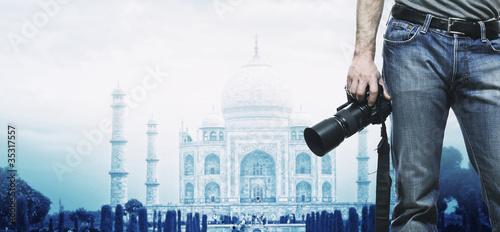 Photo  taj mahal india monument