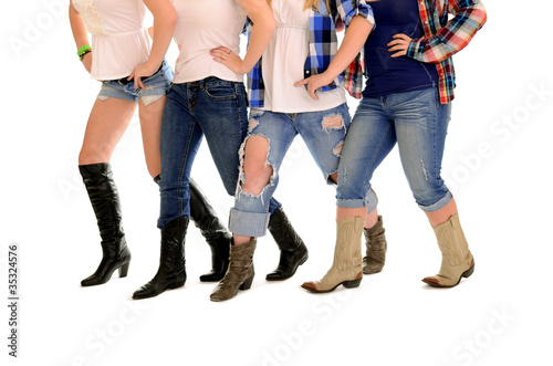 Foto op Canvas Dance School Country Women Line Dance