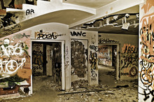 Graffitis In An Abandonded House