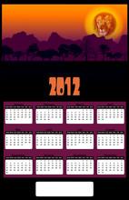 2012 African Lion Head Sunset ...