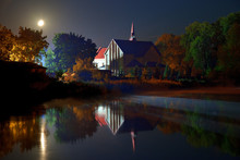 Church At Night In Lubycza Krolewska, Poland