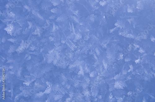 Foto auf AluDibond Himmelblau Snowflakes background