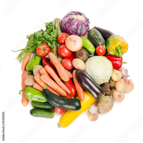 Fotobehang Assortment of fresh vegetables