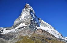 Matterhorn Mountain In Alps, Switzerland