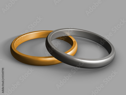 Hochzeitsringe Gold Silber Buy This Stock Illustration And