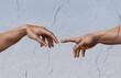 canvas print picture - Michelangelo: die Erschaffung Adams