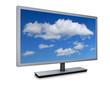 Monitor mit Wolken