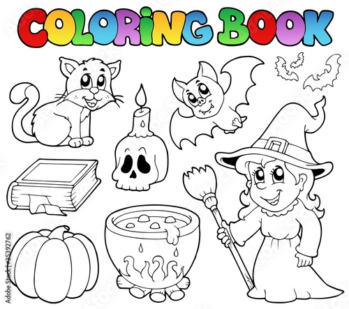 Tuinposter Doe het zelf Coloring book Halloween collection