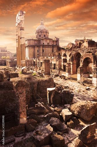 Foto auf Leinwand Ruinen old Rome