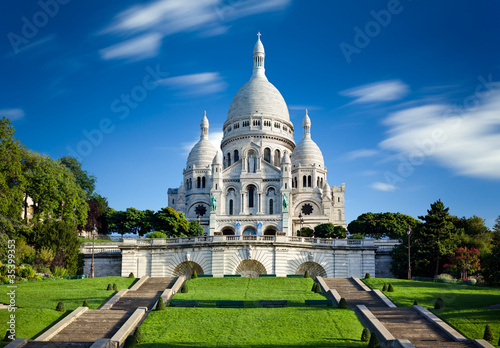 Photo  Basilique Sacré Coeur Montmartre Paris France