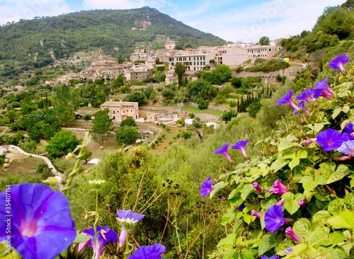 Foto op Plexiglas Groene Valldemossa from Majorca view in Tramontana