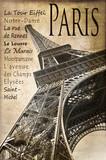 Paris, la Tour Eiffel, vintage sépia