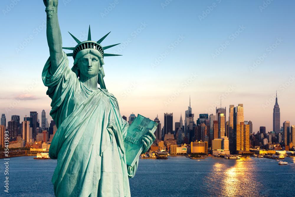 Fototapeta New York statue de la Liberté