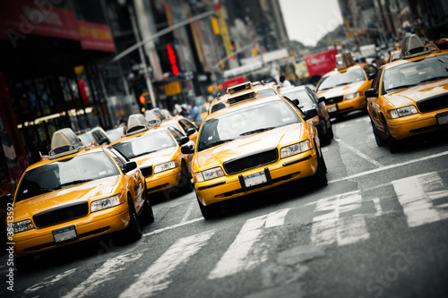 Spoed Foto op Canvas New York TAXI New York taxis