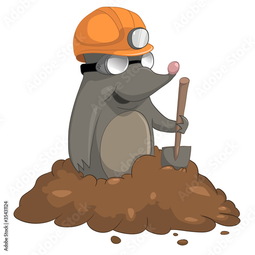 Fotografie, Obraz  Cartoon Character Mole