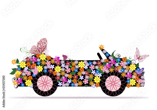 Recess Fitting Floral woman convertible from flowers and butterfly