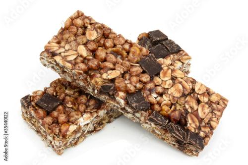Valokuvatapetti Barres de céréales (au chocolat)
