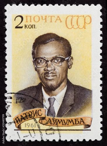 Fotografia  Postal stamp. Patrice Emery Lumumba, 1961