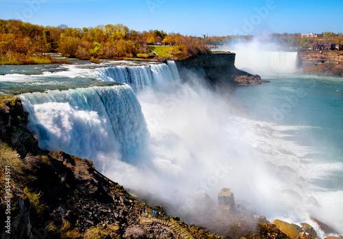 Spoed Foto op Canvas Canada American side of Niagara Falls