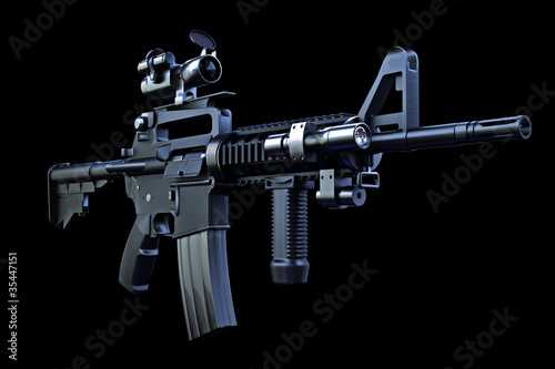 Fotografía  M4 tactical rifle with combat optics and laser sighting
