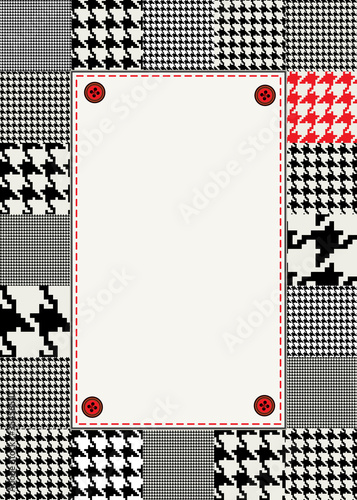 Photo  houndstooth border