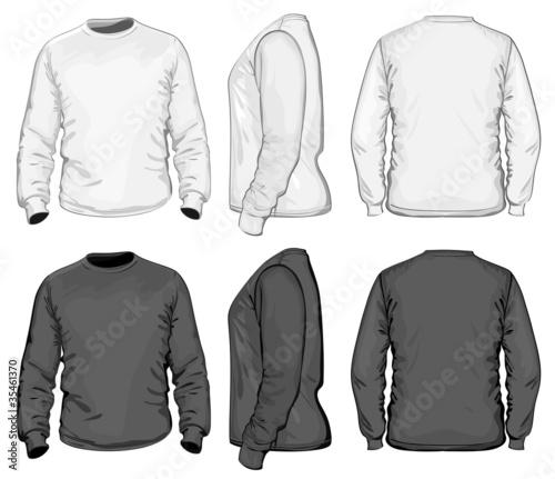 Vector. Men's t-shirt design template. long sleeve.