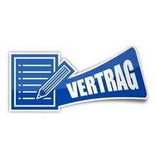 Sticker Papier-stift Vertrag 1