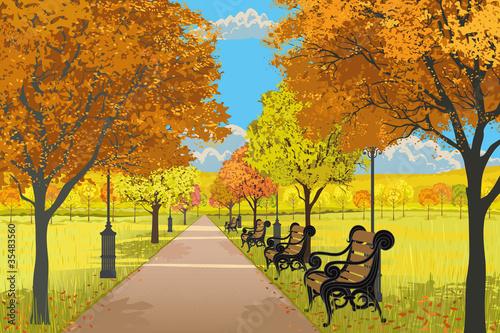 Dekoracja na wymiar jesien-w-parku-miejskim